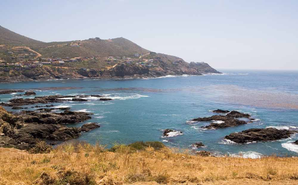 Visit Ensenada: Beautiful ocean water and rocks near La Bufadora Ensenada Baja California Mexico