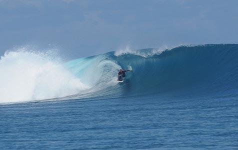 Surfing Baja Malibu