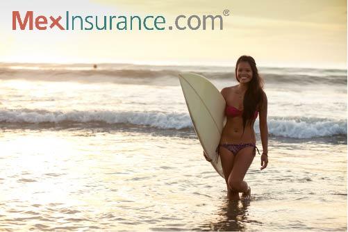 Surfer girl in La Fonda Baja