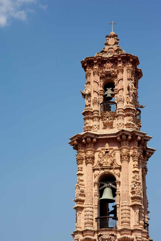 Bell tower in mexican town of taxco