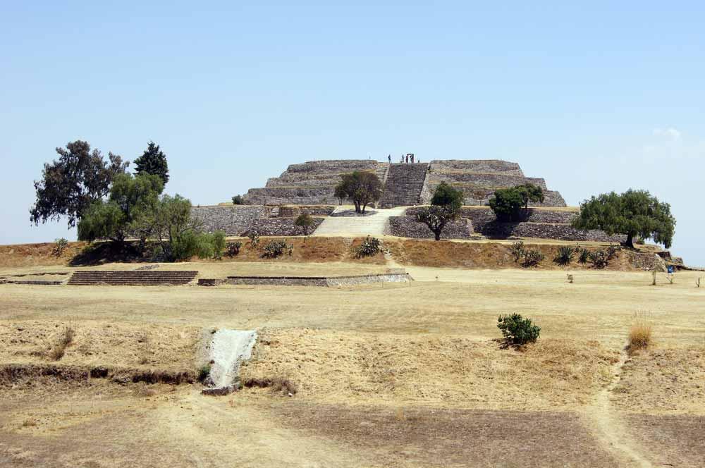Main Qquare of Xochitecatl ruins in Mexico