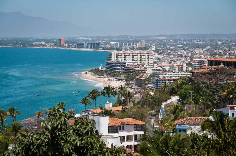 Puerto Vallarta city and Banderas Bay