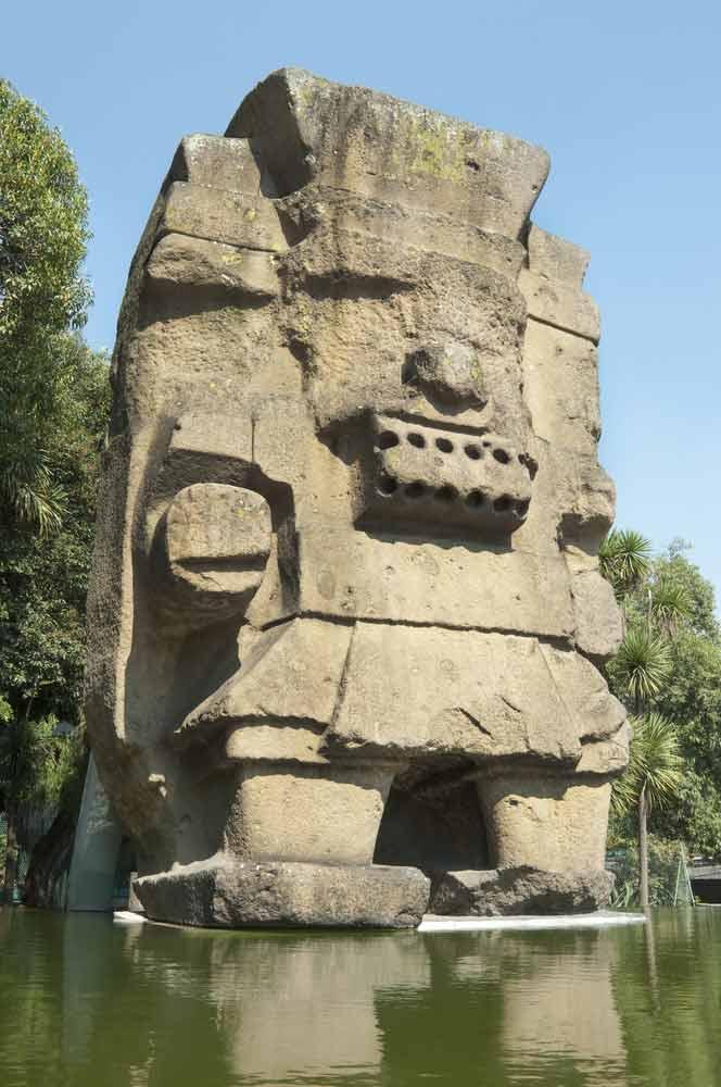 Tlaloc Statue Aztec God of Rain