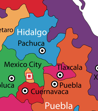 Tlaxcala on Map
