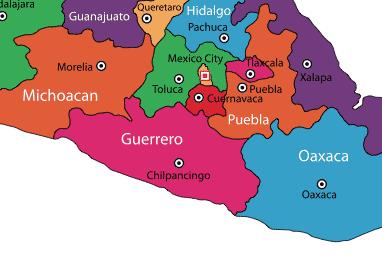 Guerrero on Map