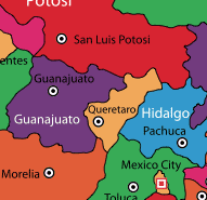 Queretaro on Map