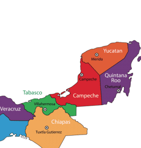 Quintana Roo on Map