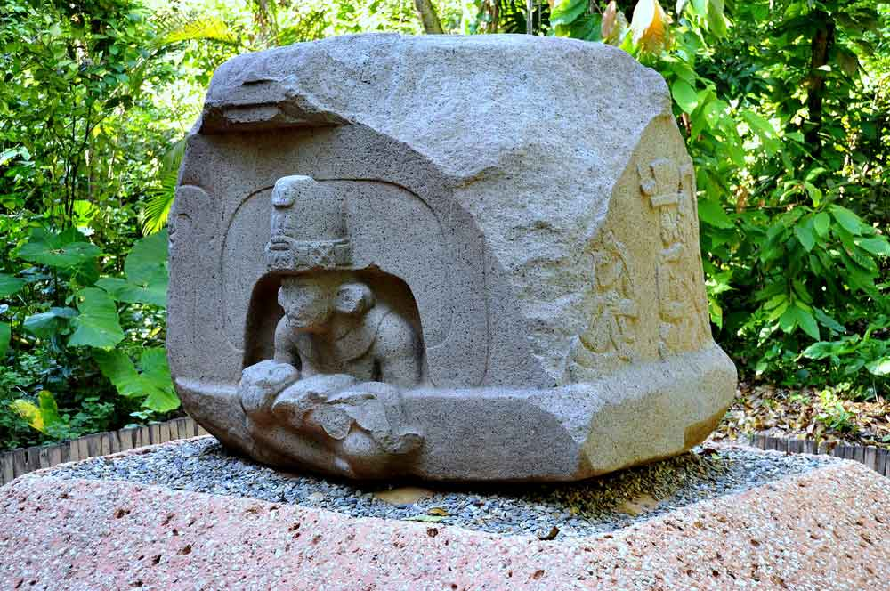 Altar of The Children Olmec Stone Sculpture