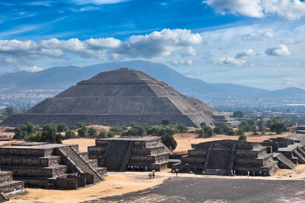 Pyramid of the Sun. Teotihuacan. Mexico. View from the Pyramid of the Moon