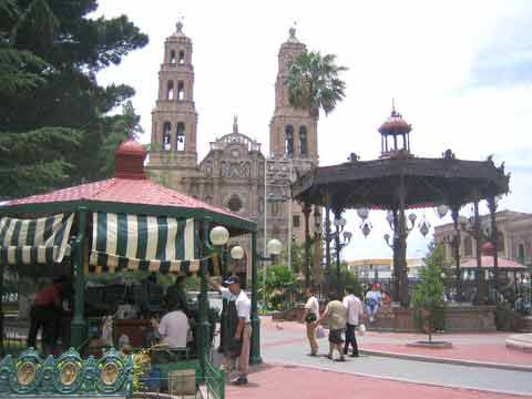 The Plaza de Armas in Chihuahua City