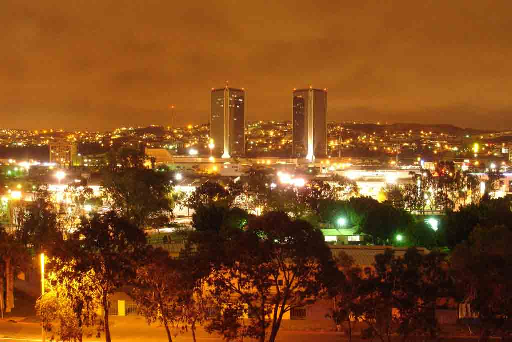 Tijuana skyline at Night