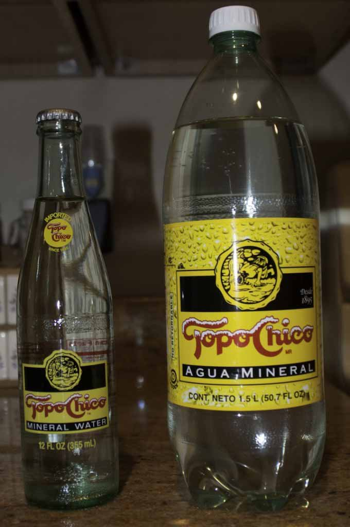 Topo Chico Liter and Returnable Bottle