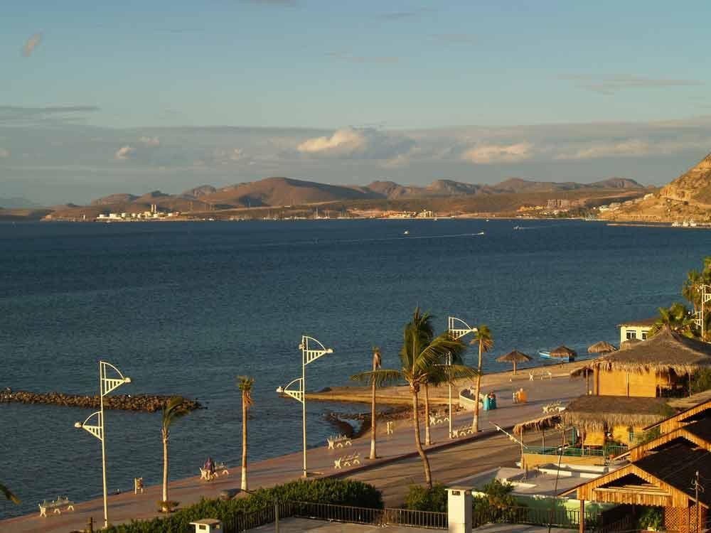 The Malecon harbor front road in La Paz, Baja, Mexico