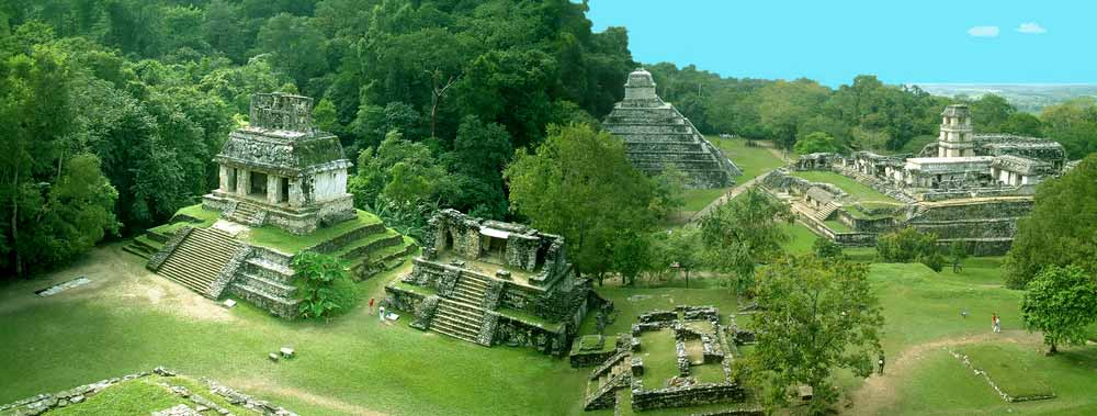 Panorama of Palenque, Mexico