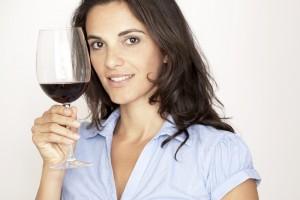 woman in baja winery