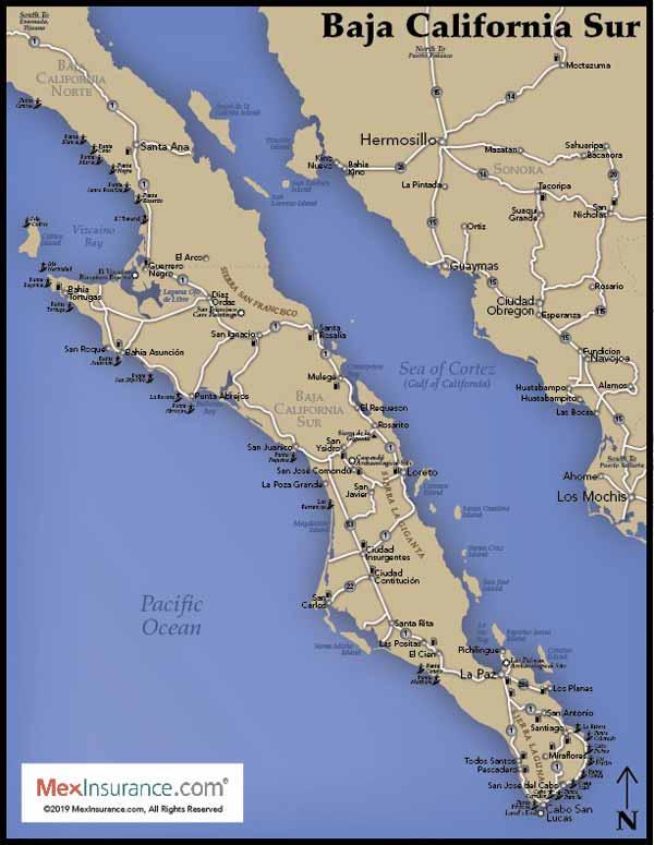 Baja South Map