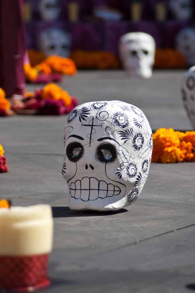 dia muertos skull