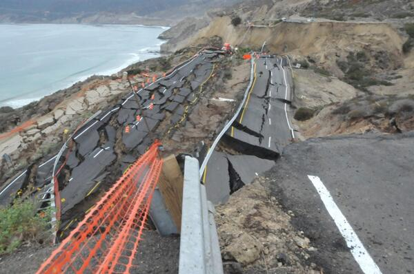 Tijuana Ensenada Toll Road collapse