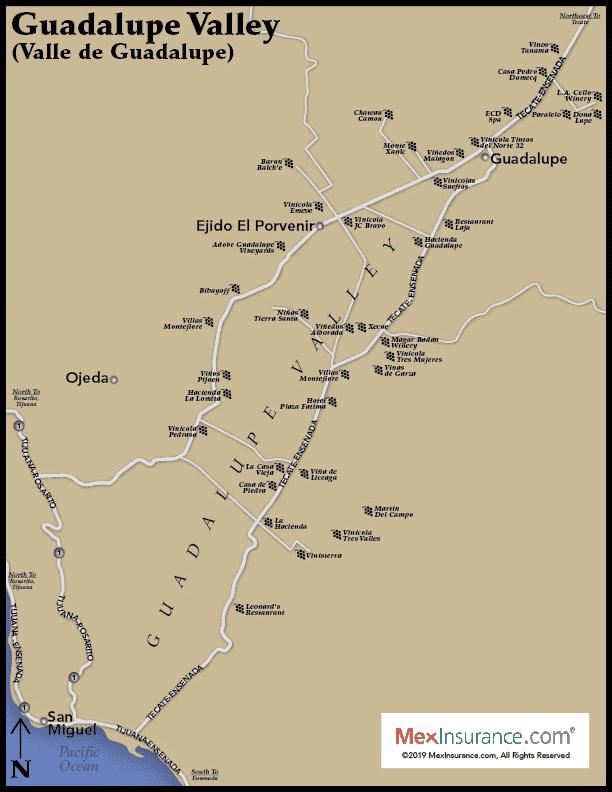 Baja Winery Map