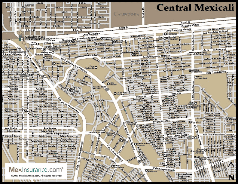 Mexicali Map