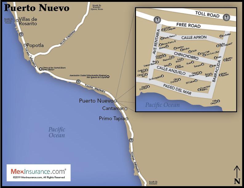 Puerto Nuevo Map