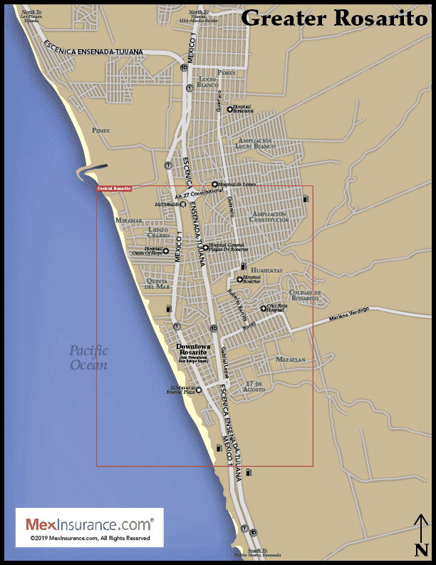 Rosarito Map
