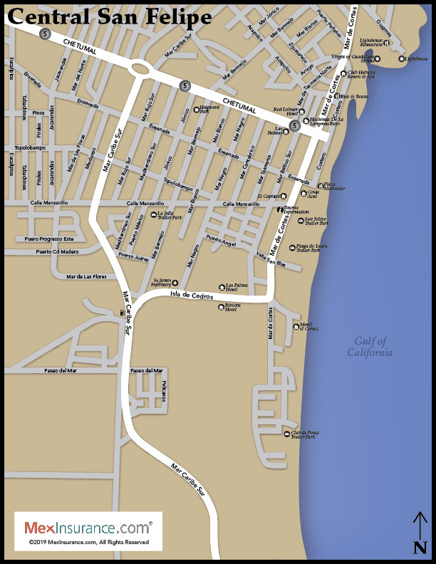 Street Map of San Felipe