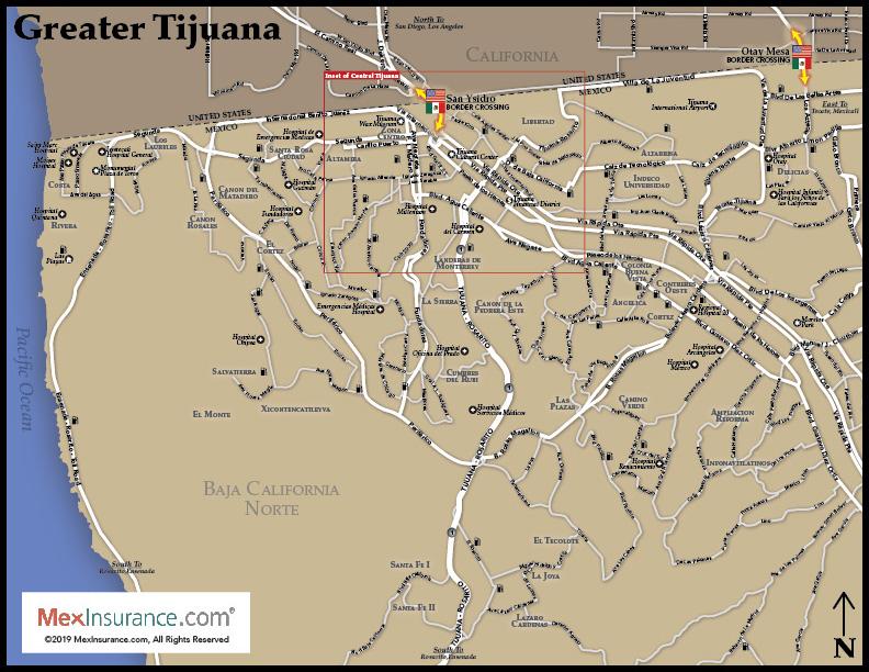 Tijuana Map