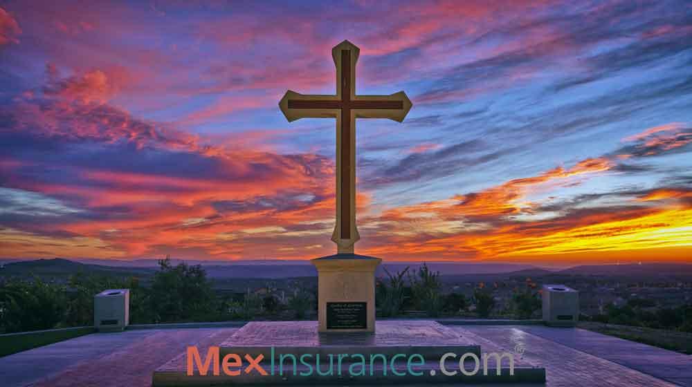 Mater Dei Cross at Sunset in San Ysidro