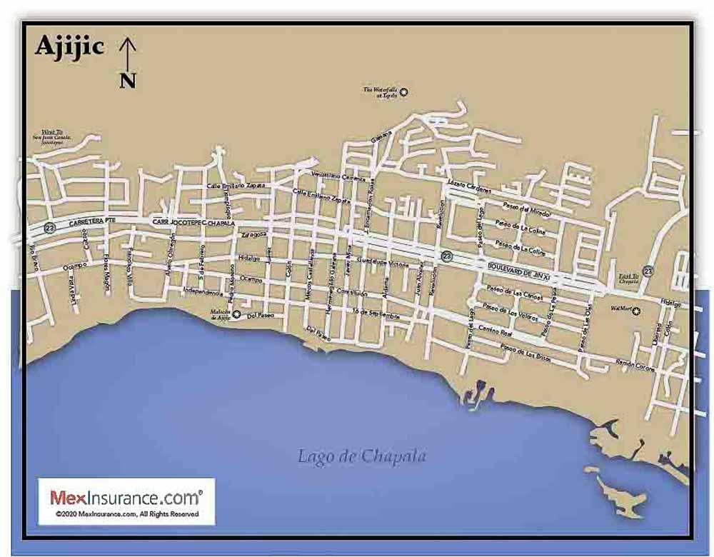 Ajijic Street Map MexInsurance®