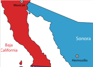Baja California on Map