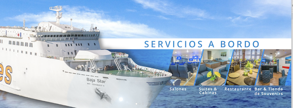 Ad for Baja Star with New Services of Baja Star Ferry