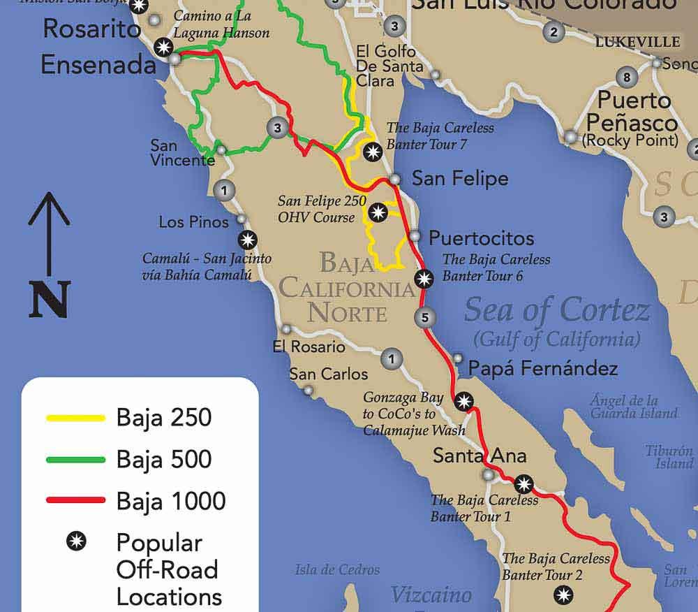 Baja Off Road Map