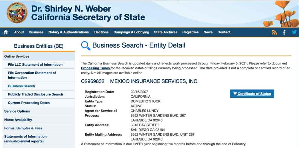 California Corporation