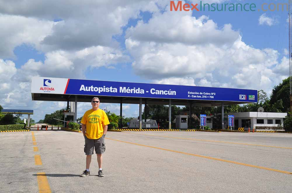 Mexico Mike Nelson at Cancun Merida Toll Booth