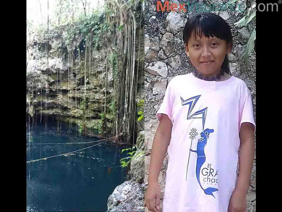 Mayan Girl at Cenote Gran Chaac