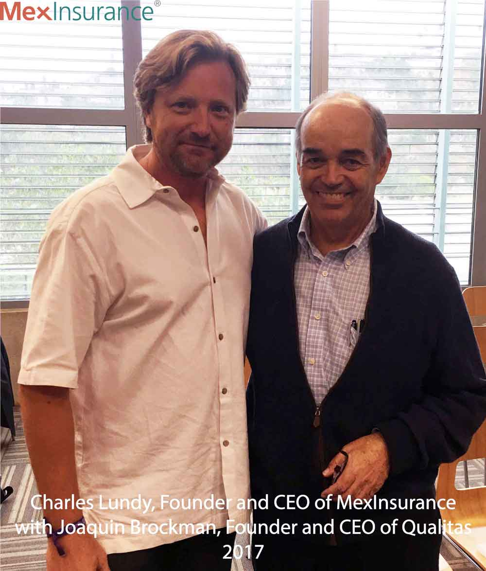 Charles Lundy with Qualitas CEO Joaquin Brockman