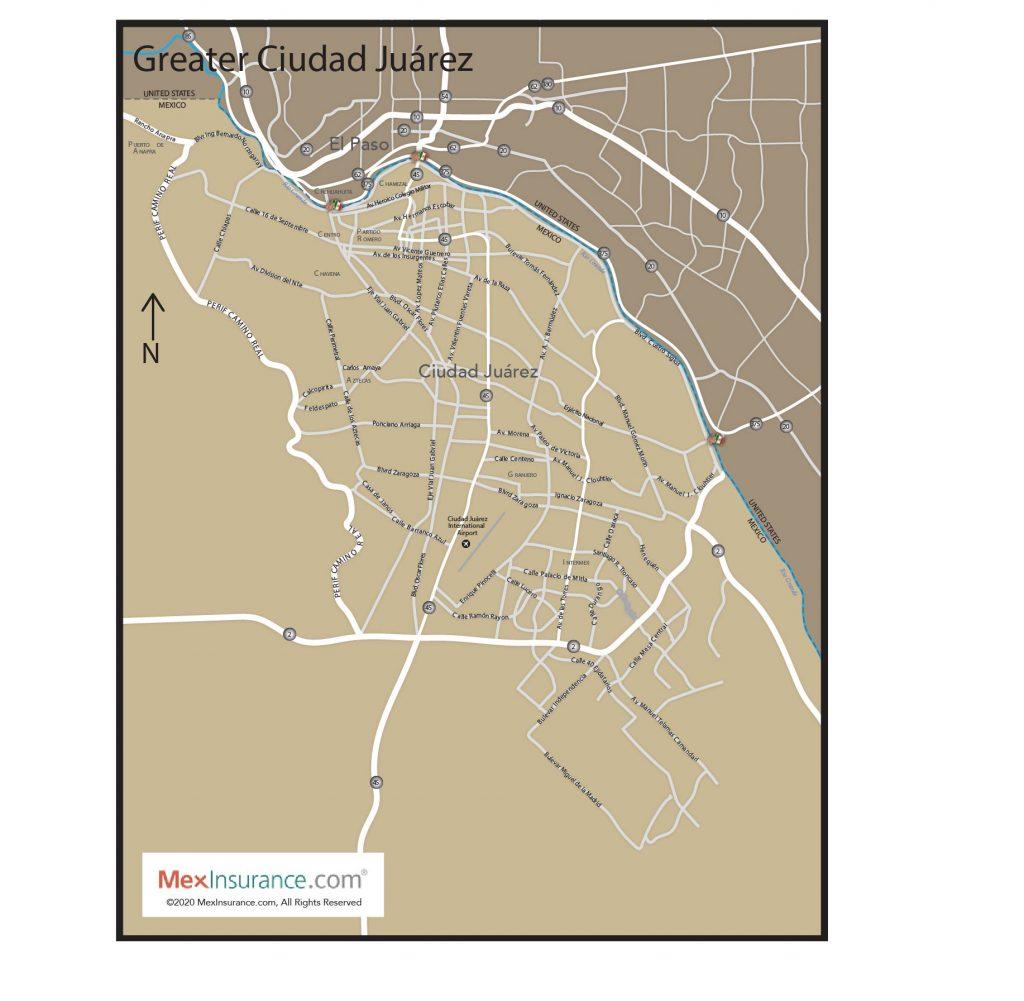 Ciudad Juarez Map