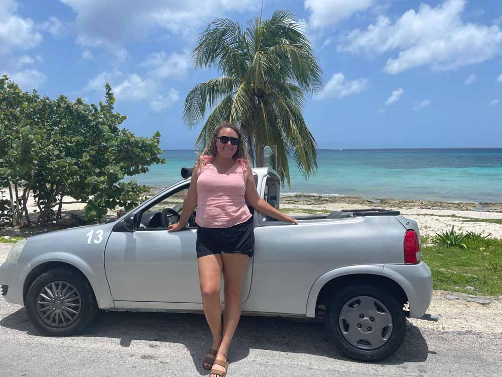 Cozumel-Rebekah with Rental Car