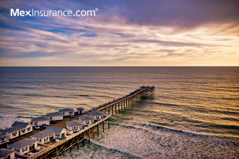 Mexican Car Insurance Crystal Pier in Pacific Beach, San Diego California