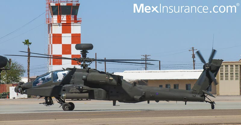 Apache helicopter at blue angels air show in EL CENTRO California