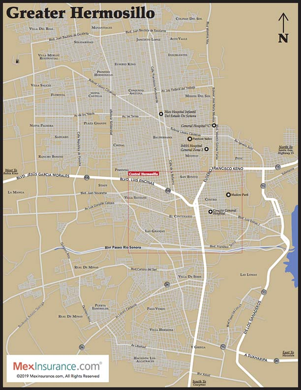 Hermosillo Map