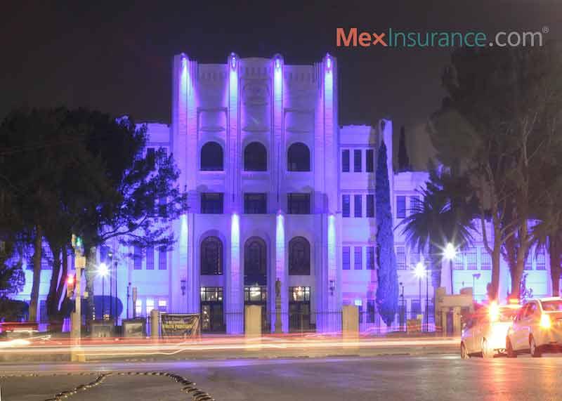 Historical building of the Ateneo Fuente in Saltillo Coahuila Mexico