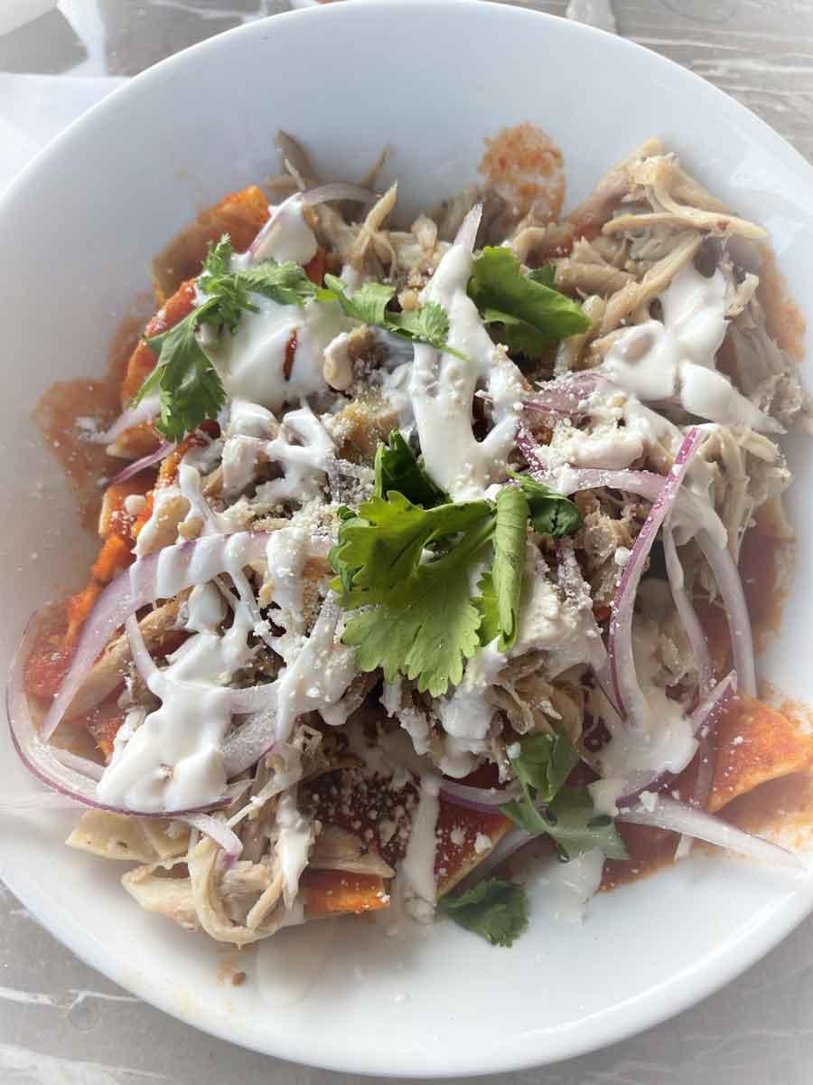 Holbox Food Chilaquiles Moskito Bar
