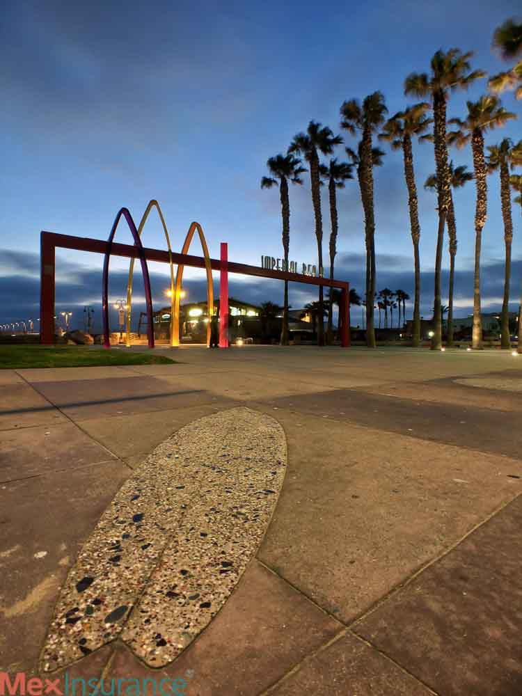 Imperial Beach Pier Entrance at Sunset