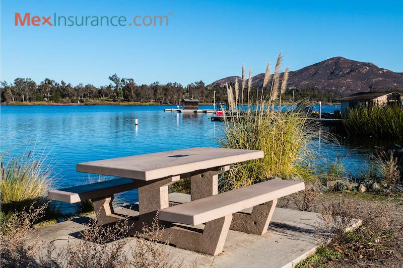 Park Bench at Lake Murray in La Mesa, California