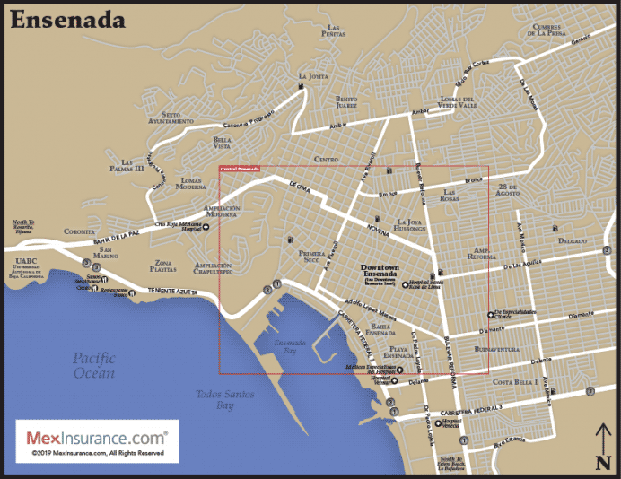 Ensenada Map
