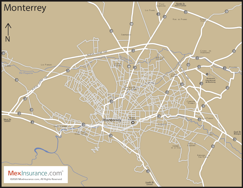 Monterrey Map