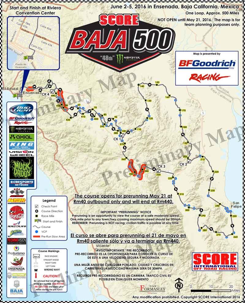 Score Baja 500 2021