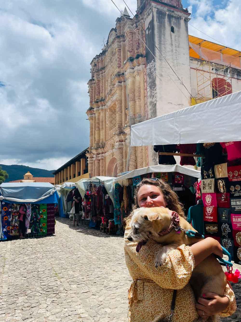 Belle was tired after exploring the markets in San Cristobol de Las Casas.